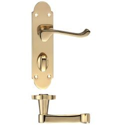 Fulton /& Bray Oxford Lever Door Handle Lever Lock Polished Brass