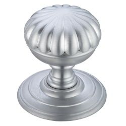 Fulton & Bray FB307SC Flower Concealed Fix Mortice Knob Satin Chrome