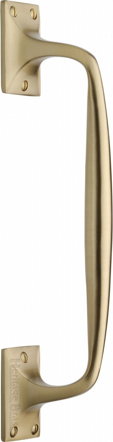 M Marcus Heritage Brass V1150 310SB Cranked Pull Handle Satin Brass