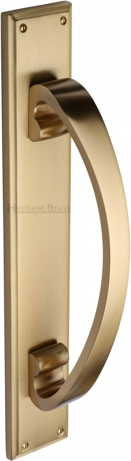 M Marcus Heritage Brass V1162SB Pull Handle On Plate Satin Brass