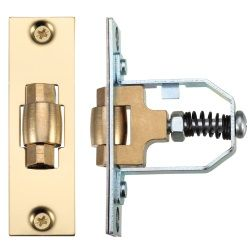 Zoo Hardware ZRL76PB Adjustable Roller Catch Polished Brass