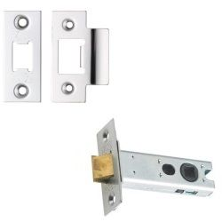 Zoo Hardware ZTLKA76SS Architectural Mortice Latch Satin Stainless Steel 76mm
