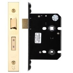 Zoo Hardware ZUKB76PVD Mortice Bathroom Lock 76mm PVD Brass