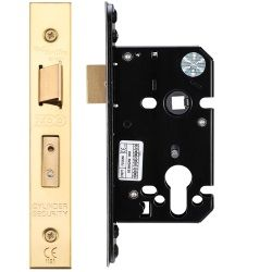 Zoo Hardware ZUKS64EPPVD Euro Profile Sashlock Case 64mm Polished Brass