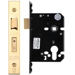 Zoo Hardware ZUKS76EPPVD Euro Profile Sashlock Case 76mm Polished Brass