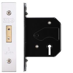 Zoo Hardware ZURD364SS 3 Lever Replacement Deadlock 64mm Satin Stainless Steel